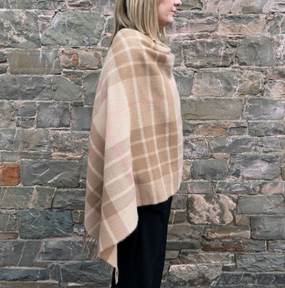 MacQueen Camel Lambswool Poncho