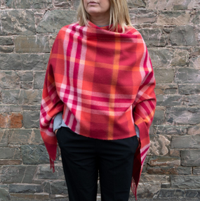 Iona Rose Lambswool Poncho