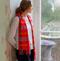 pink Scottish cashmere scarf