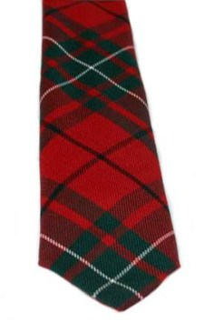 MacAuley Red Modern Tartan Tie