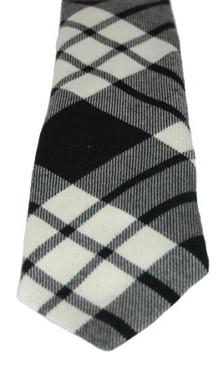 MacFarlane Black-White Modern Tartan Tie