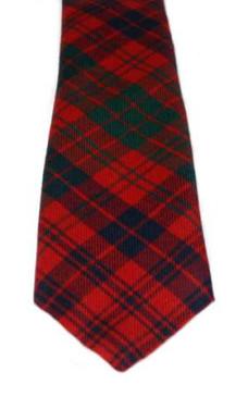 Ross Red Modern Tartan Tie