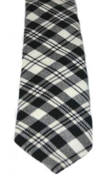 Scott Black-White Modern Tartan Tie