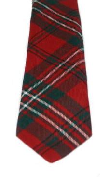 Scott Red Modern Tartan Tie
