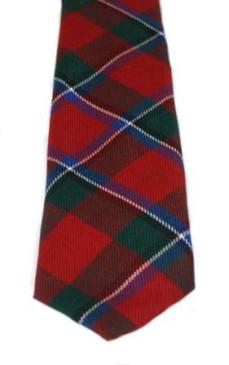 Sinclair Red Modern Tartan Tie