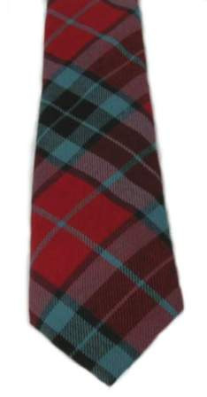 Thompson Red Modern Tartan Tie