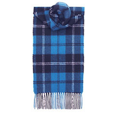 Ramsay Blue Ancient Lambswool Scarf