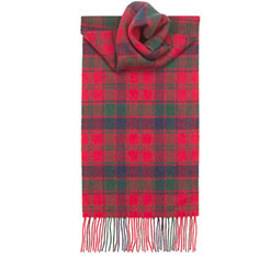Robertson Red Modern Lambswool Scarf