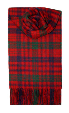 Ross Red Modern Lambswool Scarf