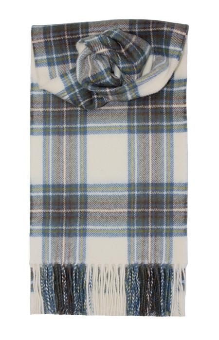 Stewart Blue Dress Lambswool Scarf