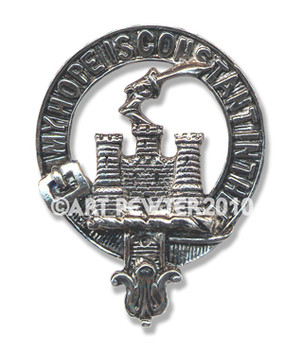 MACDONALD OF CLANRANALD CLAN CREST BADGE