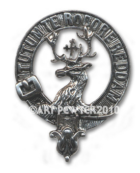 CRAWFORD CLAN CREST BADGE