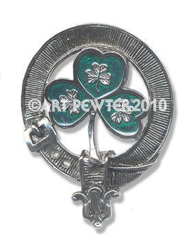 SHAMROCK GREEN CLAN CREST BADGE