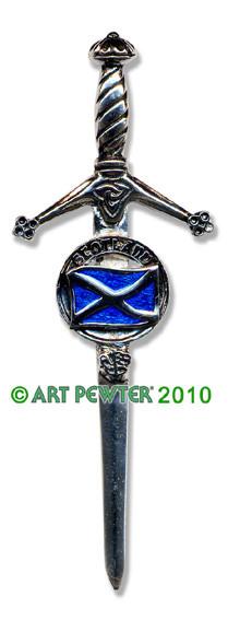 SALTIRE Clan Kilt Pin