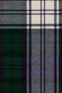 BlackWatch Dress Modern Tartan Fabric Swatch