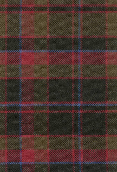 Buchan Clan Weathered Tartan Fabric Swatch
