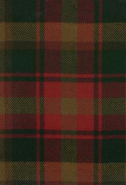 Canadian Modern Maple Leaf Tartan Fabric Swatch