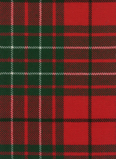 Cumming Clan Modern Tartan Fabric Swatch