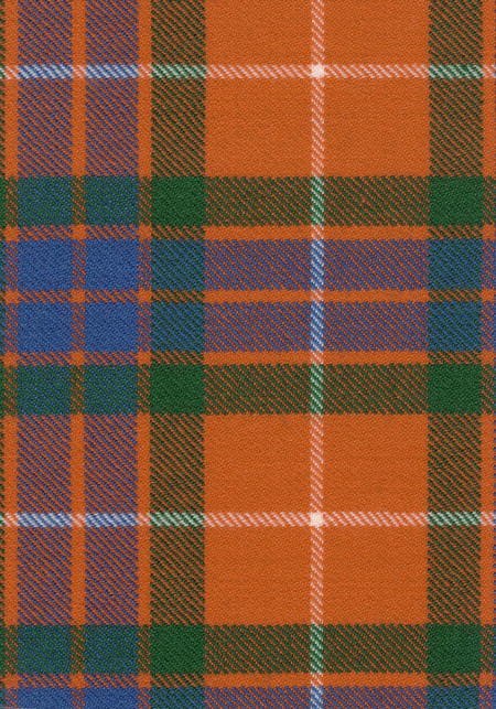 Fraser Red Ancient Tartan Fabric Swatch