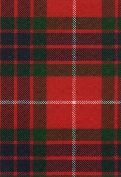 Fraser Red Modern Tartan Fabric Swatch