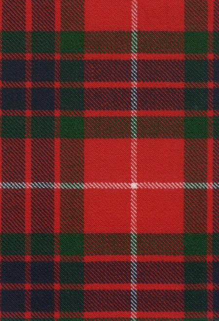Fraser Red Modern Tartan Fabric Swatch