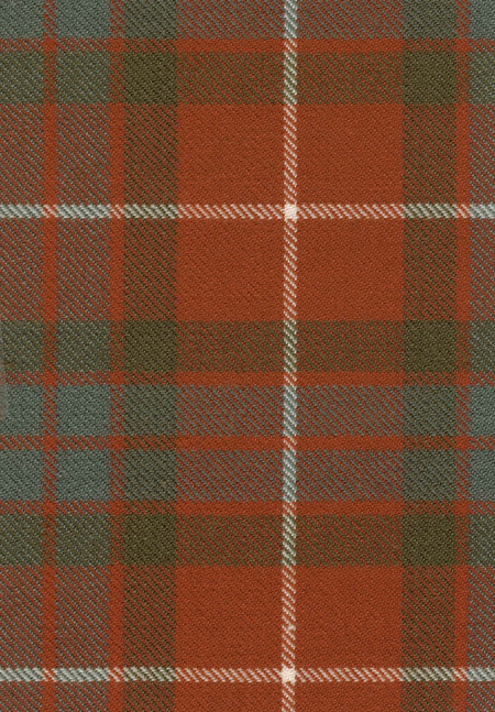 Fraser Red Weathered Tartan Fabric Swatch