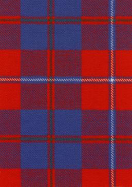 Galloway Red Modern Tartan Fabric Swatch