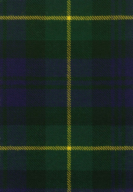Gordon Clan Modern Tartan Fabric Swatch