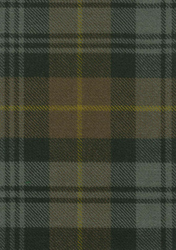 Gordon Clan Weathered Tartan Fabric Swatch