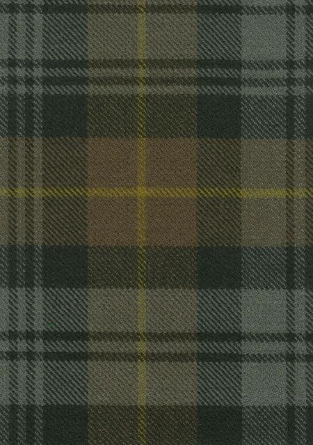 Gordon Clan Weathered Tartan Fabric Swatch