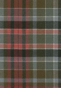 Gordon Red Weathered Tartan Fabric Swatch