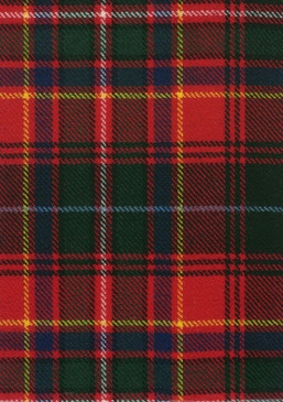 Innes Red Modern Tartan Fabric Swatch