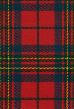 Leslie Red Modern Tartan Fabric Swatch