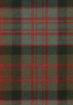 MacDonald Clan Weathered Tartan Fabric Swatch