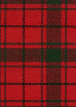 MacDonald Isles Red Modern Tartan Fabric Swatch