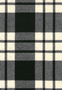 MacFarlane Black Weathered Modern Tartan Fabric Swatch