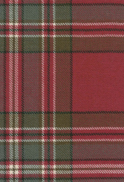 MacFarlane Clan Weathered Tartan Fabric Swatch