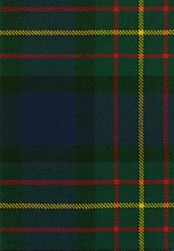 MacLaren Clan Modern Tartan Fabric Swatch