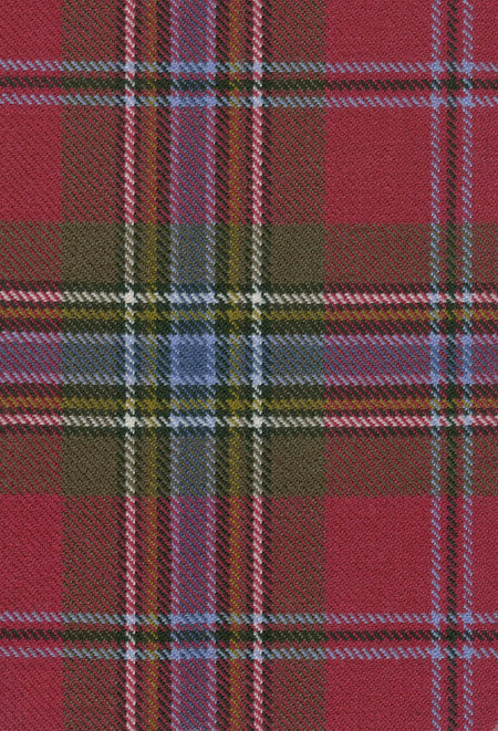 MacLean Duart Weathered Tartan Fabric Swatch