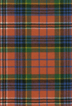 MacPherson Red Ancient Tartan Fabric Swatch