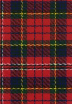 MacPherson Red Modern Tartan Fabric Swatch