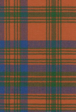 Matheson Red Ancient Tartan Fabric Swatch