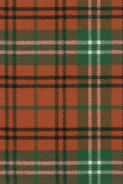 Morrison Red Ancient Tartan Fabric Swatch