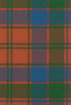 Robertson Red Ancient Tartan Fabric Swatch