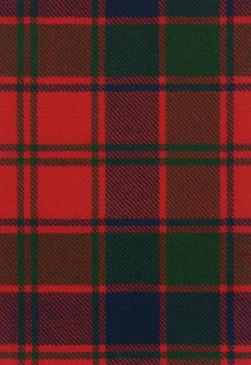 Robertson Red Modern Tartan Fabric Swatch