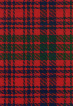 Ross Red Modern Tartan Fabric Swatch