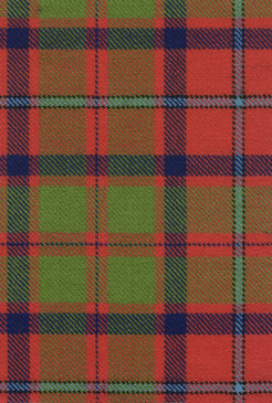 Shaw Tordarroch Red Ancient Tartan Fabric Swatch