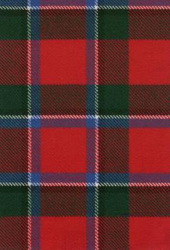 Sinclair Red Modern Tartan Fabric Swatch