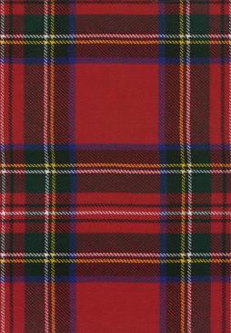 Stewart Royal Tartan Fabric Swatch