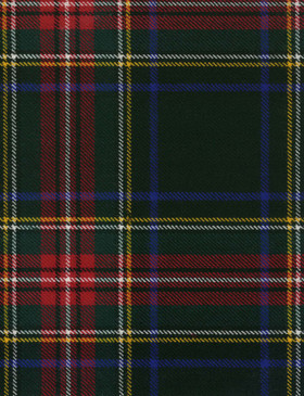 Stewart Black Modern Tartan Fabric Swatch